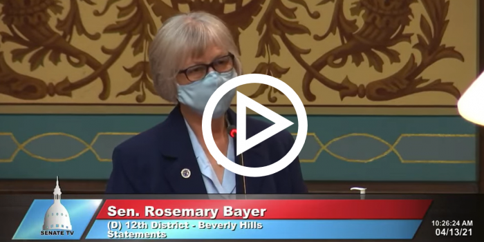 Sen Rosemary Bayer Floor Speech
